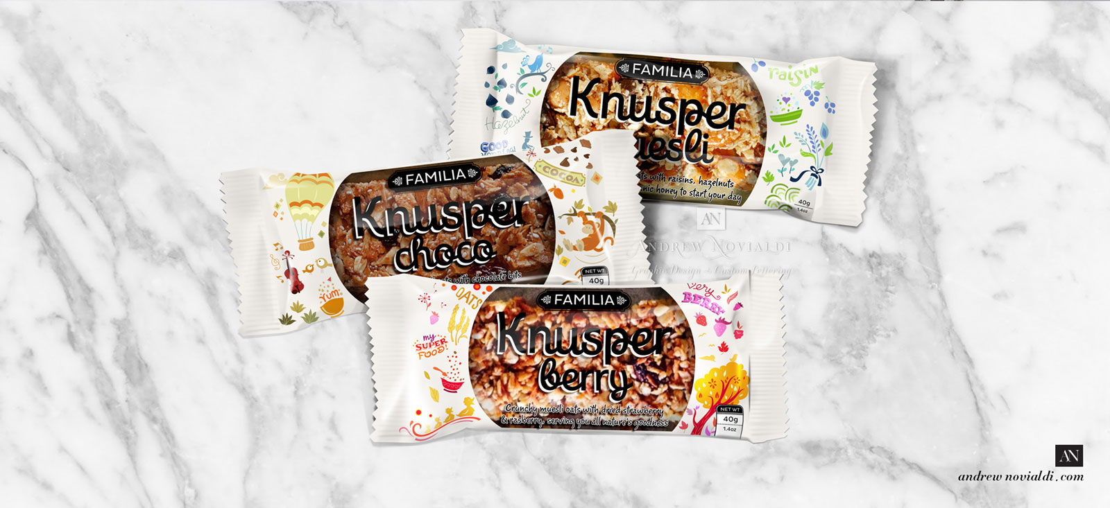 Knusper Granola Muesli Energy Bar For Easy To Go Breakfast