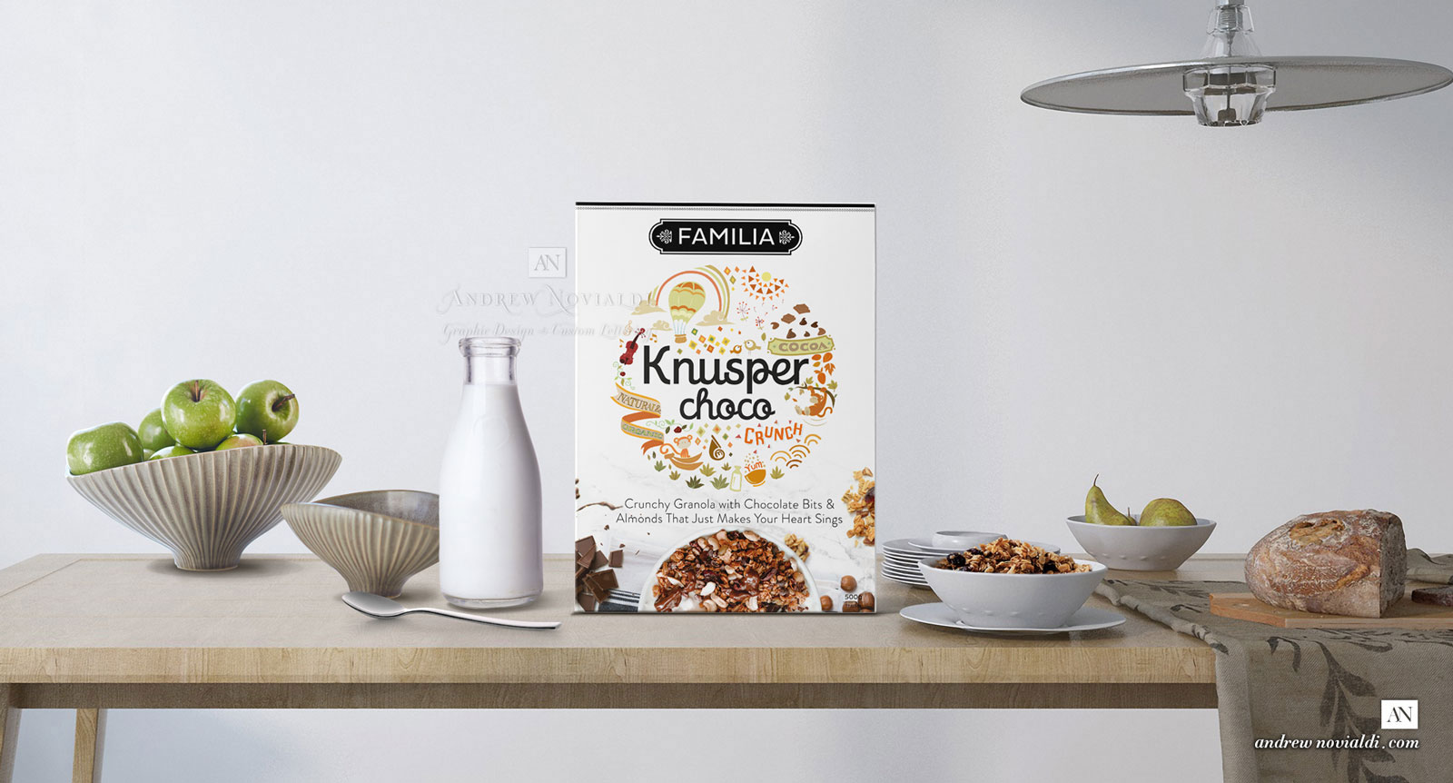 Knusper Granola Muesli Natural and Healthy All Natural Breakfast