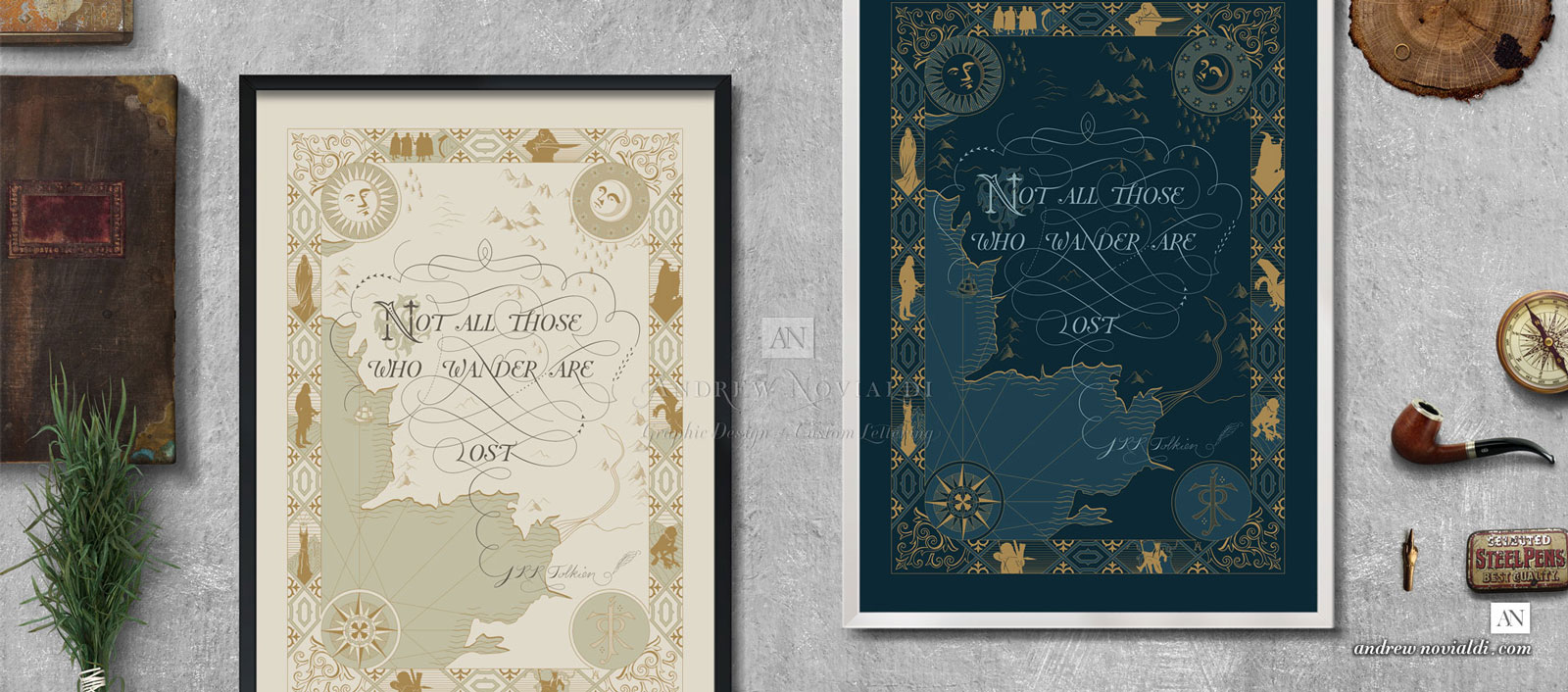Middle Earth Design Comes in Two Color Variations: Ivory Parchment and Imperial Blue