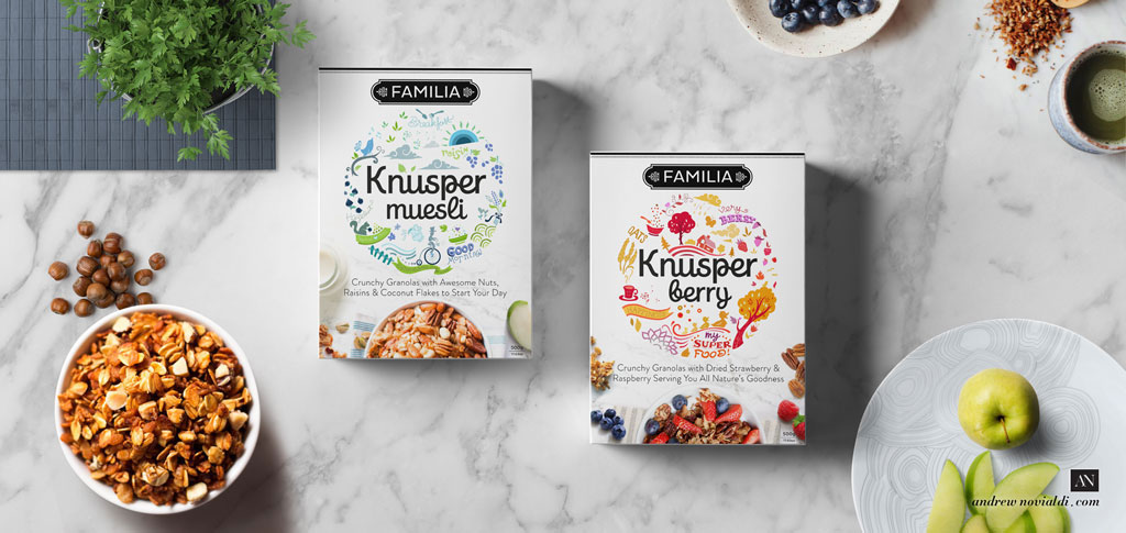 Knusper Organic Granola Breakfast Granola Healthy Modern Packaging
