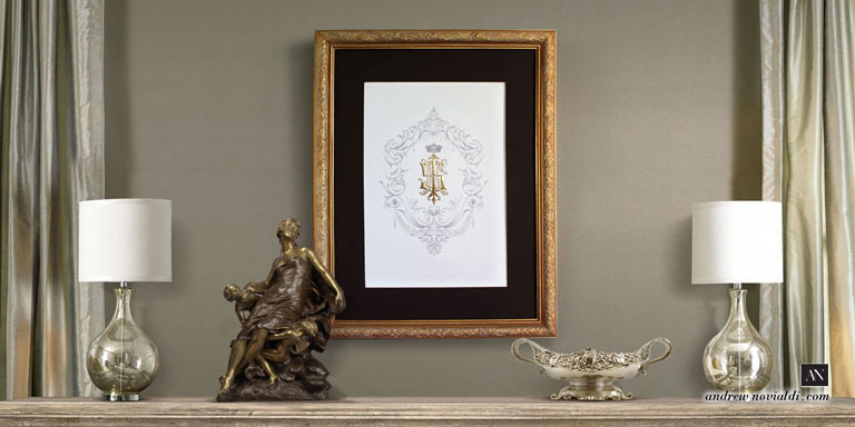 I S E H Family Grand Monogram Custom Designed Framed
