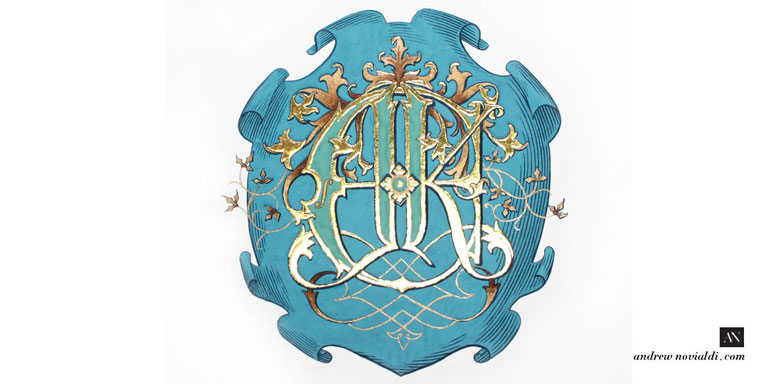 James Ehnes and Kate Monogram Royal Heraldry Wedding Monogram Violin Ballet Artwork Design