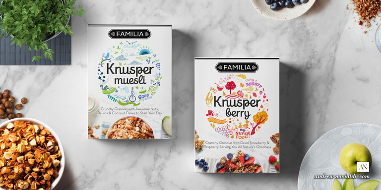 Knusper Organic Granola Muesli Packaging Design that Appeals to Healthy Lifestyle