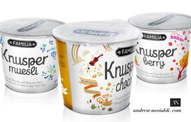 Knusper Granola Muesli Mini Cups For Easy Outdoor Breakfast Just Add Milk