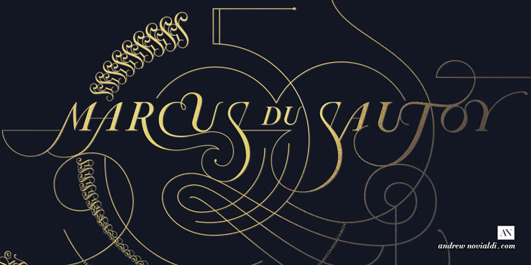 50th Birthday Greeting Design for Prof. Marcus du Sautoy of Oxford University