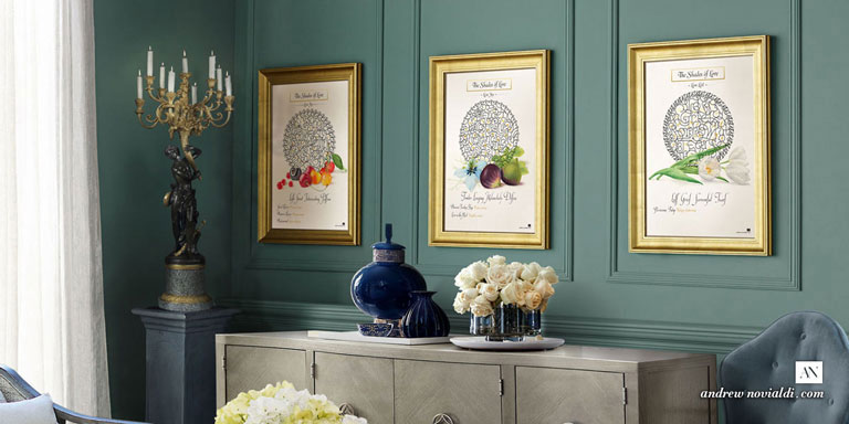 The Shades of Love Design Series Framed in Elegant Living Room Interior Design