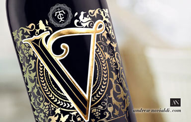 Vernoux French Wines Packaging Design Red Wine Gold Bottle Premium Package