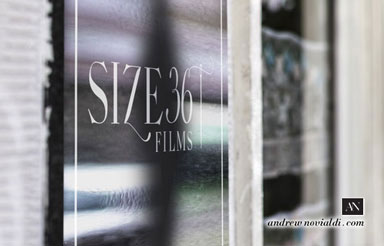 Size 36 Films Company Office Signage in New York