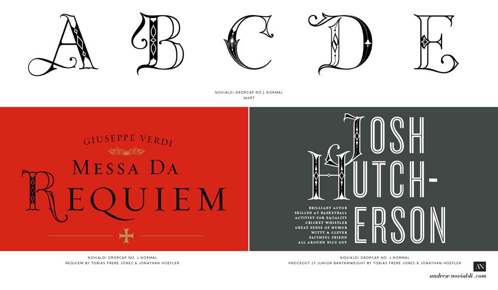 Andrew Novialdi Design | Novialdi Dropcap No  1 | Lettering