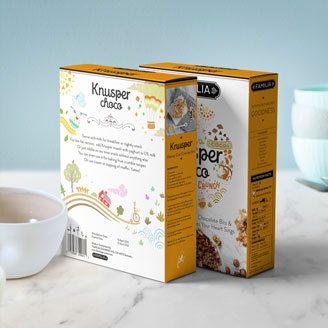 Knusper Organic granola and Nuts Crunchy Healthy Modern Packaging Design