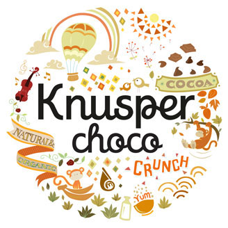 Knusper Organic Muesli Sweet Chocolate Granola Healthy Modern Packaging Design