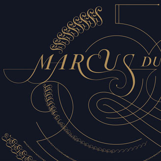 Marcus du Sautoy's 50th Birthday Greeting Mathematics Ornamental Rim Pattern Circular Fourishing Design