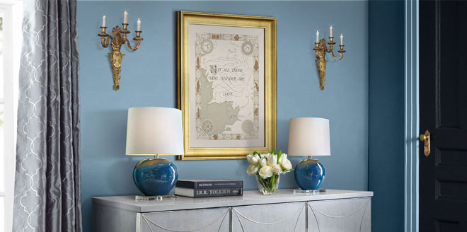Not All Those Who Wander Are Lost - Tolkien's Quote on Middle Earth Classical Ivory Parchment Map Lettering Interior Design
