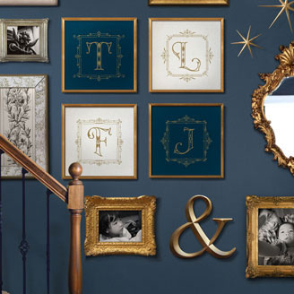 Novialdi Dropcap no. 1 Lettering Single Letter Family Photos Blue Stairwell