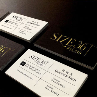 Size 36 Films Production Company Logo Visual Identity Modern Sleek Business Card Design